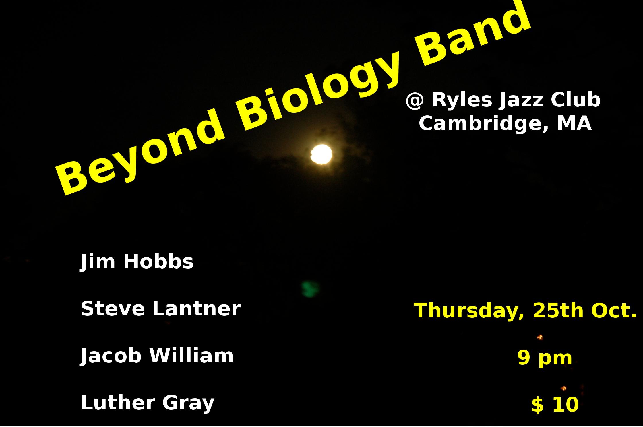 Beyond Biology - Oct. 2012